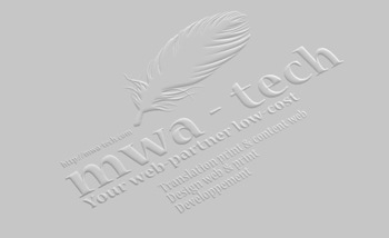 logo mwa-tech embossed