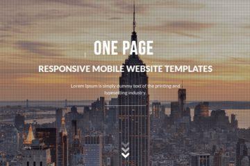 Site internet one-page idéal pour la présentation de votre nouveau produit ou service
