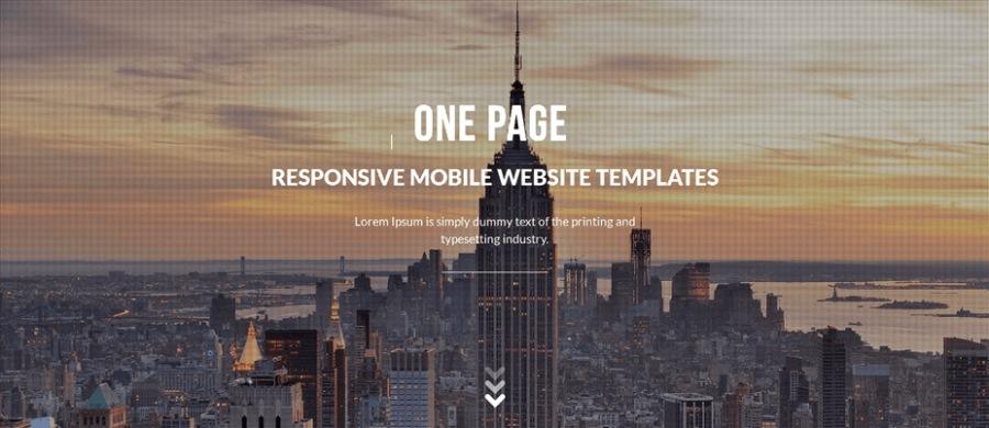 One-Page: pour l'annonce événementielle, la création d'un nouveau service / produit